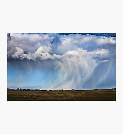 Snow shower approaching Photographic Print
