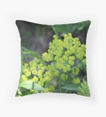 Flowers of Green Throw Pillow