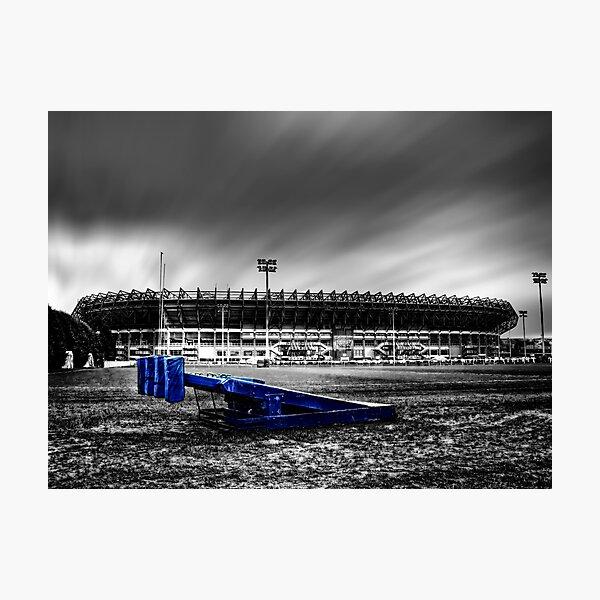 Murrayfield Stadium, Edinburgh, Scotland Selective Colouring Photographic Print