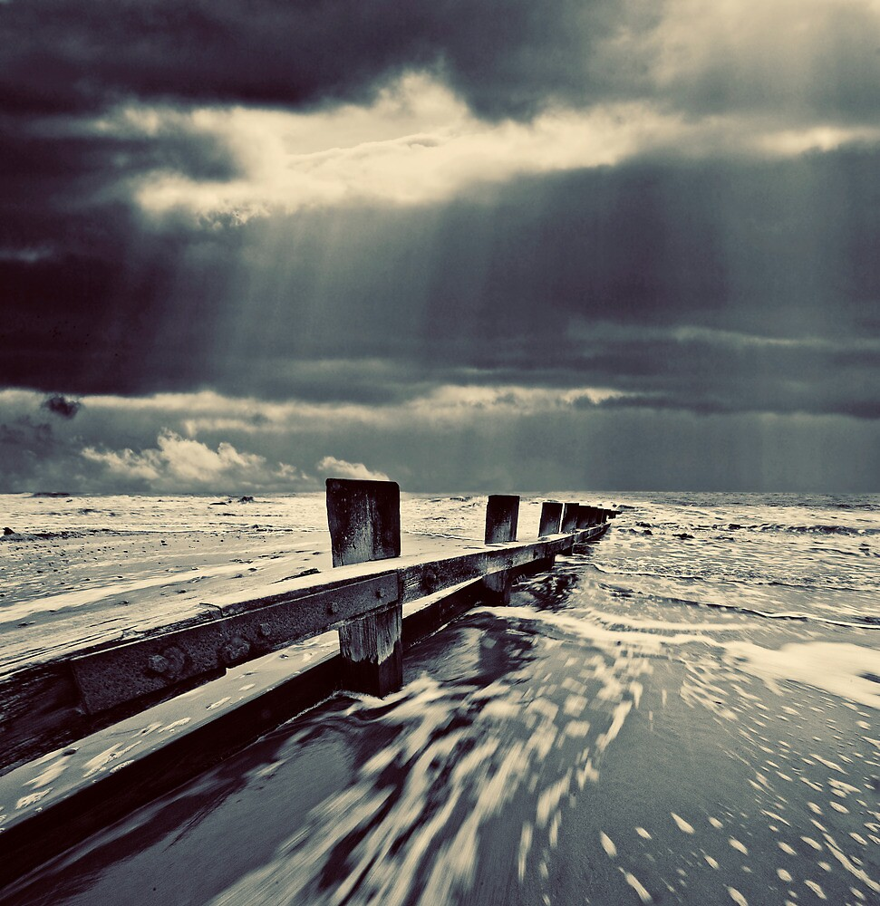 stout wooden sea defenses by meirionmatthias