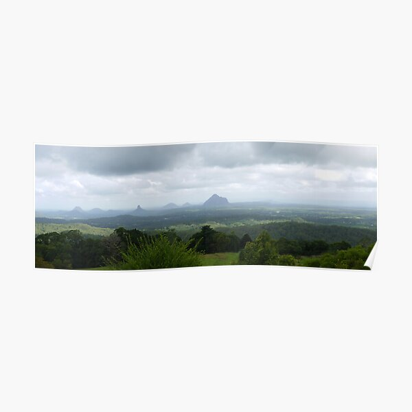 Glass House Mountains QLD Panorama Poster