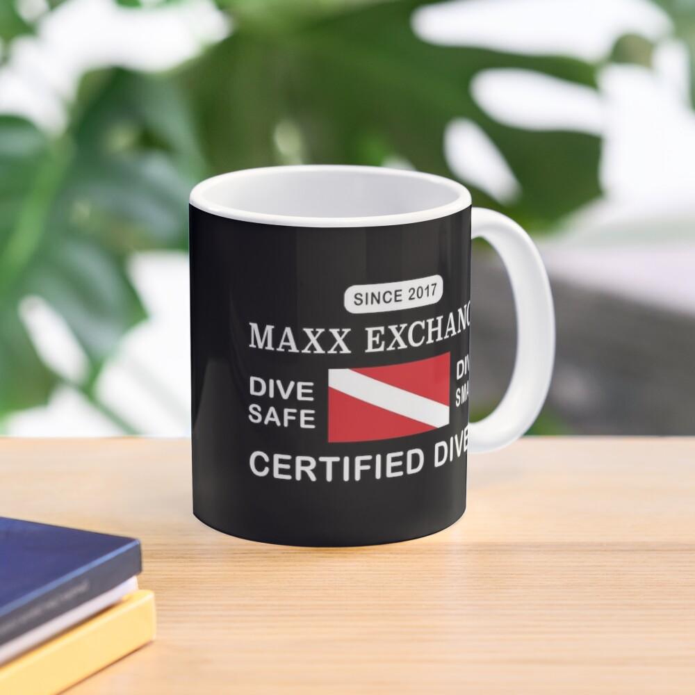 Maxx Exchange Certified Diver Wetsuit Snorkel. Mug