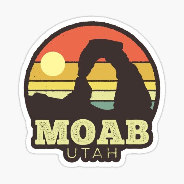 Moab Utah Vintage Sunset Sticker Sticker