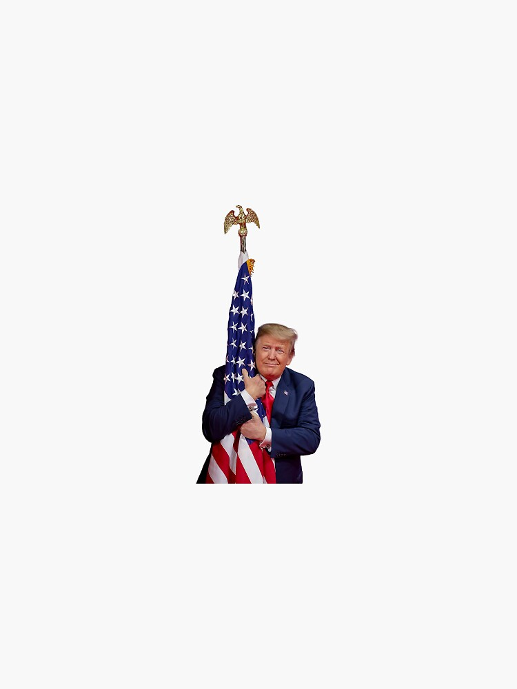 Donald Trump Hugging American Flag by qsasson