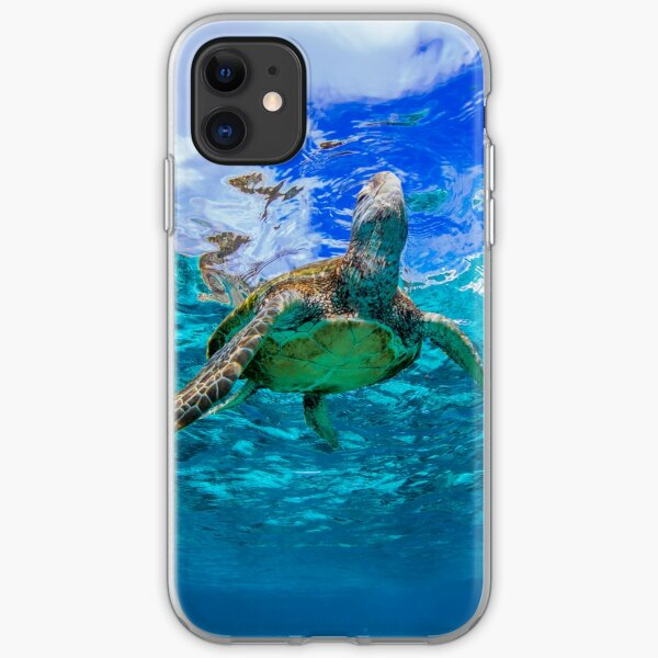 Turtle and sky iPhone Soft Case