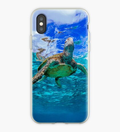 Turtle and sky iPhone Case