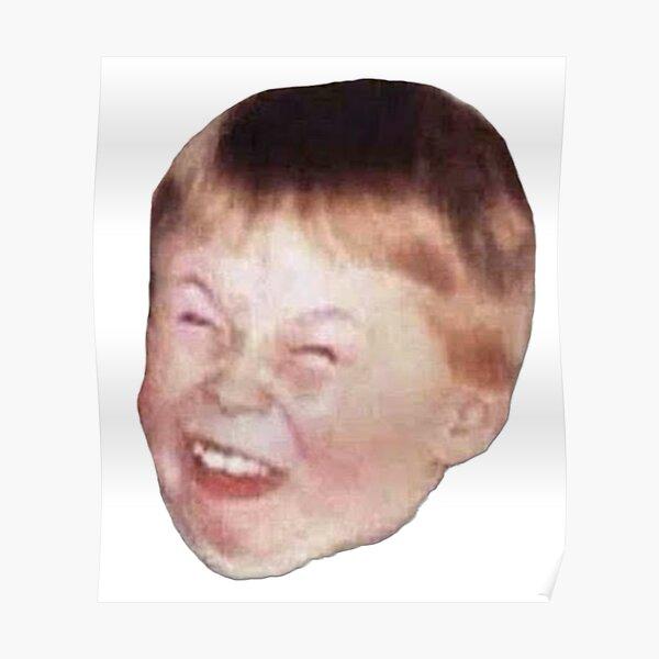 Kleines Kind Rotschopf Fett Lachen Verspottet Lustiges Meme Gesicht Poster