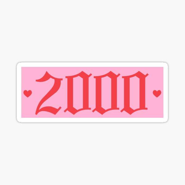 2000 <3 Sticker