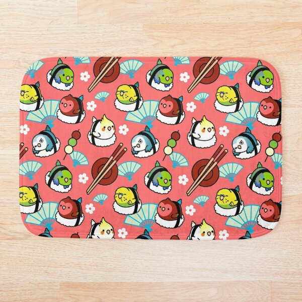 Sushi Time with Cody the Lovebird & Friends Bath Mat