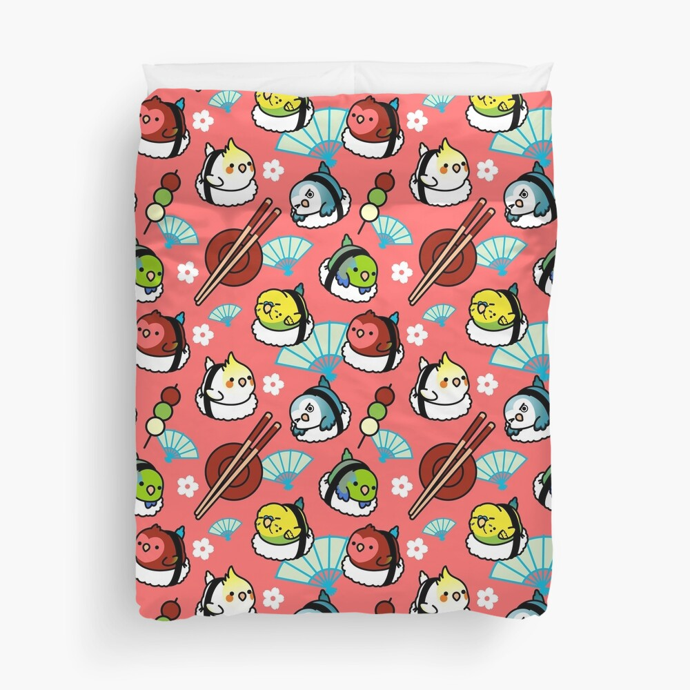 Sushi Time with Cody the Lovebird & Friends Duvet Cover