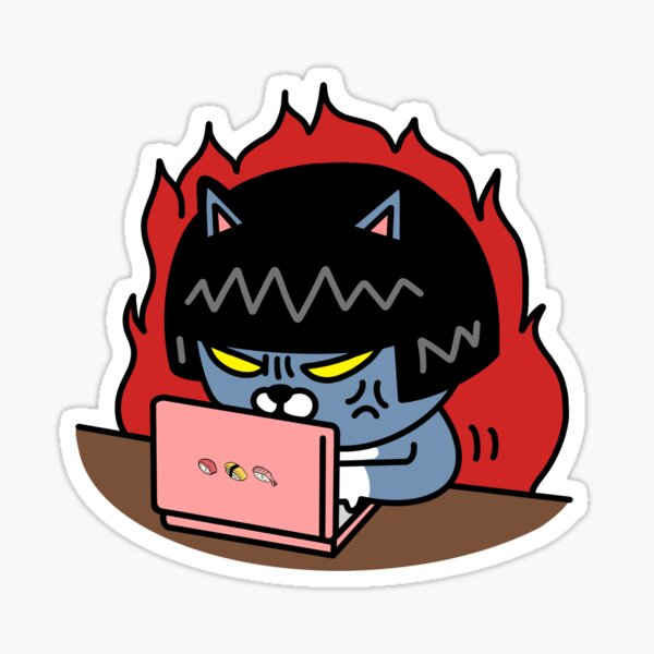 Neo typing furiously Sticker