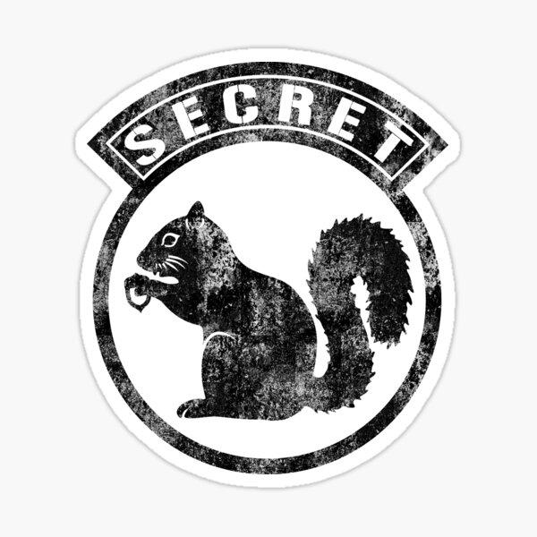 Secret Squirrel 35M - Black Distressed Sticker
