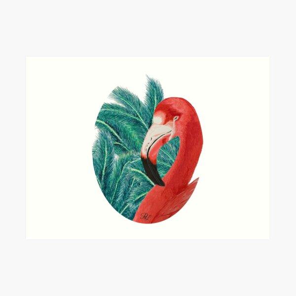 Tropical Flamingoo  Art Print