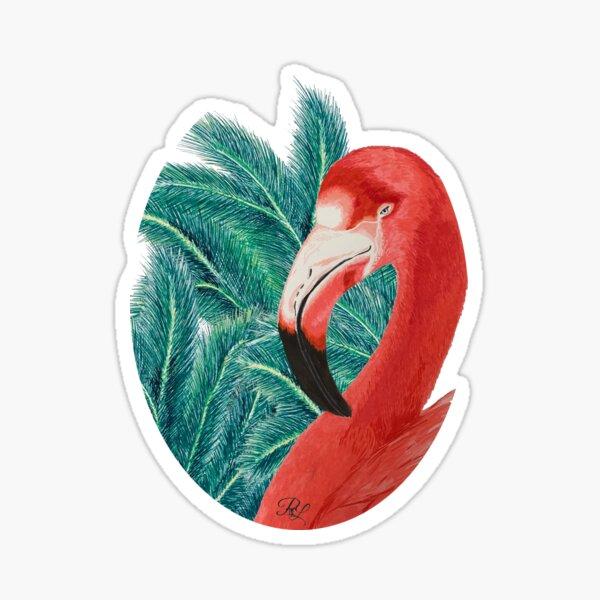 Tropical Flamingoo  Sticker