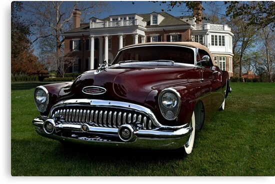 1953 Buick Skylark Convertible Canvas Prints By Teemack Redbubble