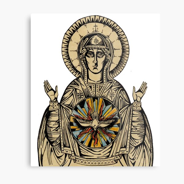 Theotokos Metal Print