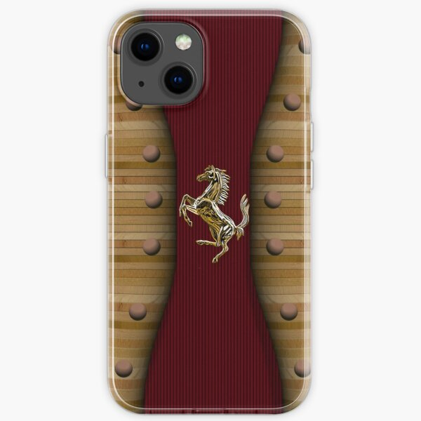 Wooden Prancing Horse (Natural) iPhone Soft Case