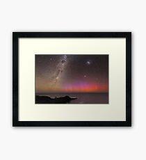 Red Aurora Over Australia  Framed Print