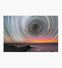 Aurora Star Trails Photographic Print