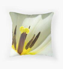 White Tulip Flower art print giclee Tulips Floral Throw Pillow