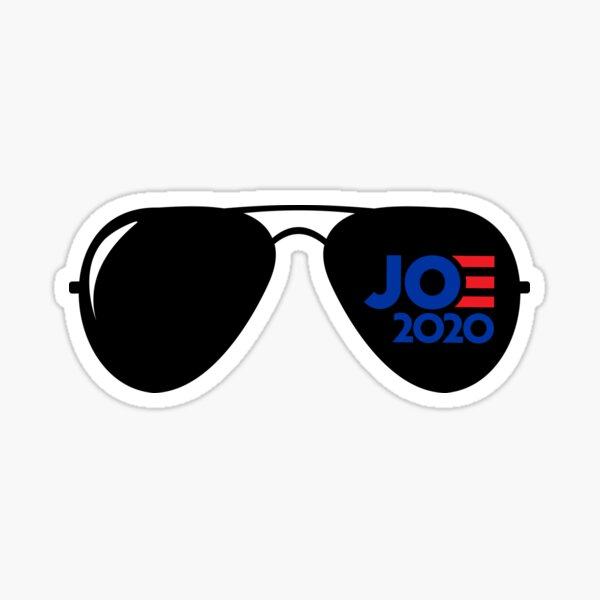 "Joe Biden ""Joe 2020"" Aviators Sticker"