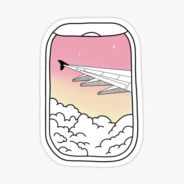 aesthetic plane window Sticker