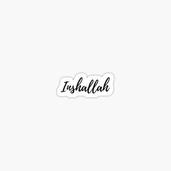 Inshallah cursive Sticker