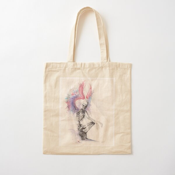 Fairyland II watercolor and ink drawing Cotton Tote Bag