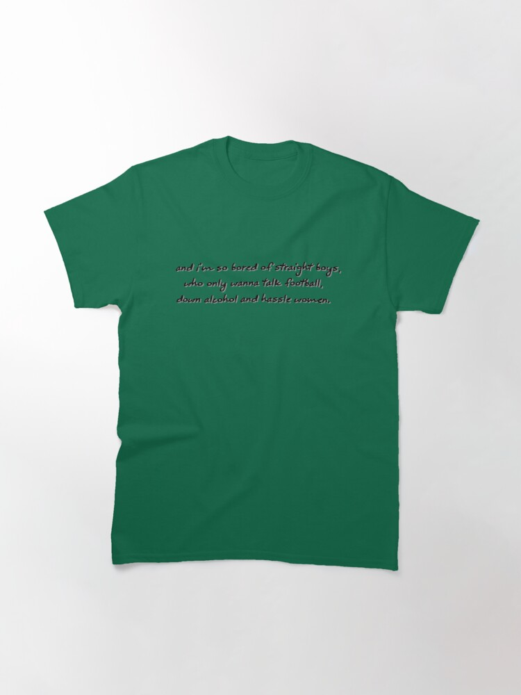 Alternate view of Bored of Straight Boys - Matt Fishel Design Classic T-Shirt