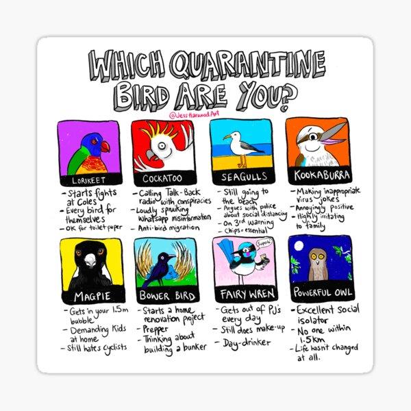 Which Quarantine Bird Are You?  Sticker