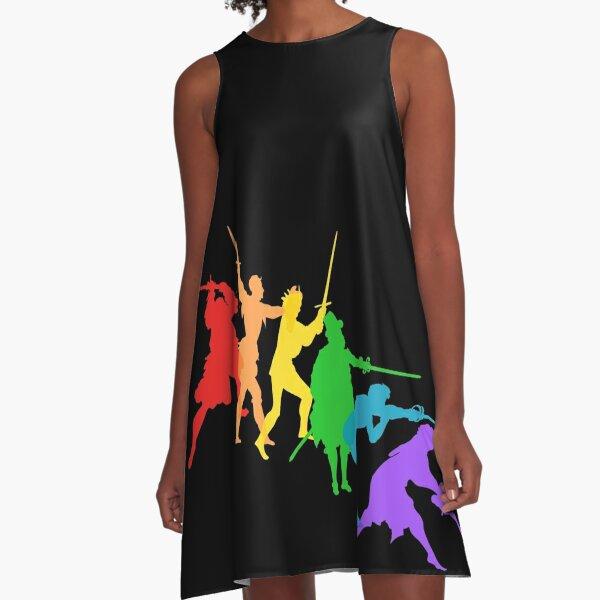 A Spectrum of Swordy Silhouettes A-Line Dress