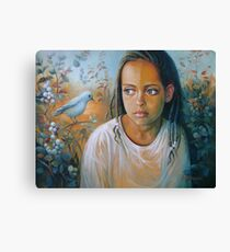 The bird and the child Canvas Print