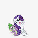 Spike Loves You Rarity! by Empanlegend