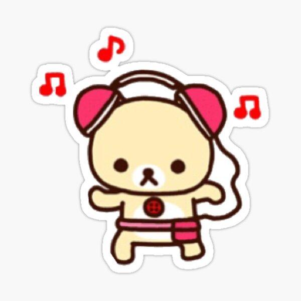 korilakkuma headphones Sticker