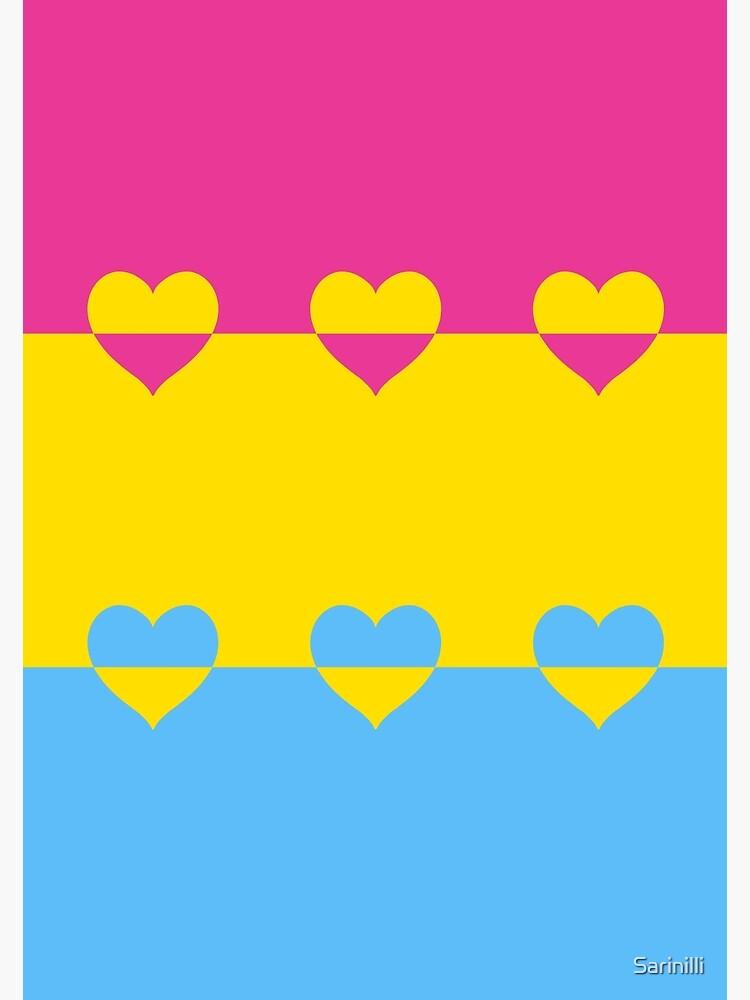 LGBTQ Flag with Hearts v1 - Pansexual by Sarinilli