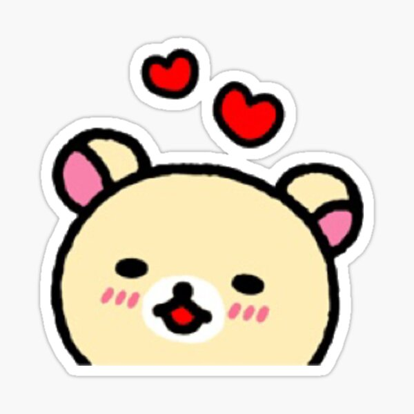 korilakkuma hearts Sticker