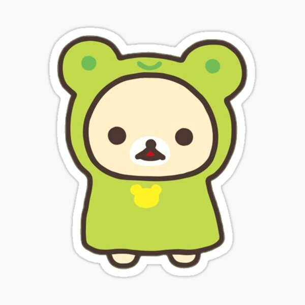 korilakkuma frog costume Sticker