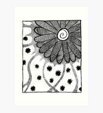Flower in Pen and Ink Art Print
