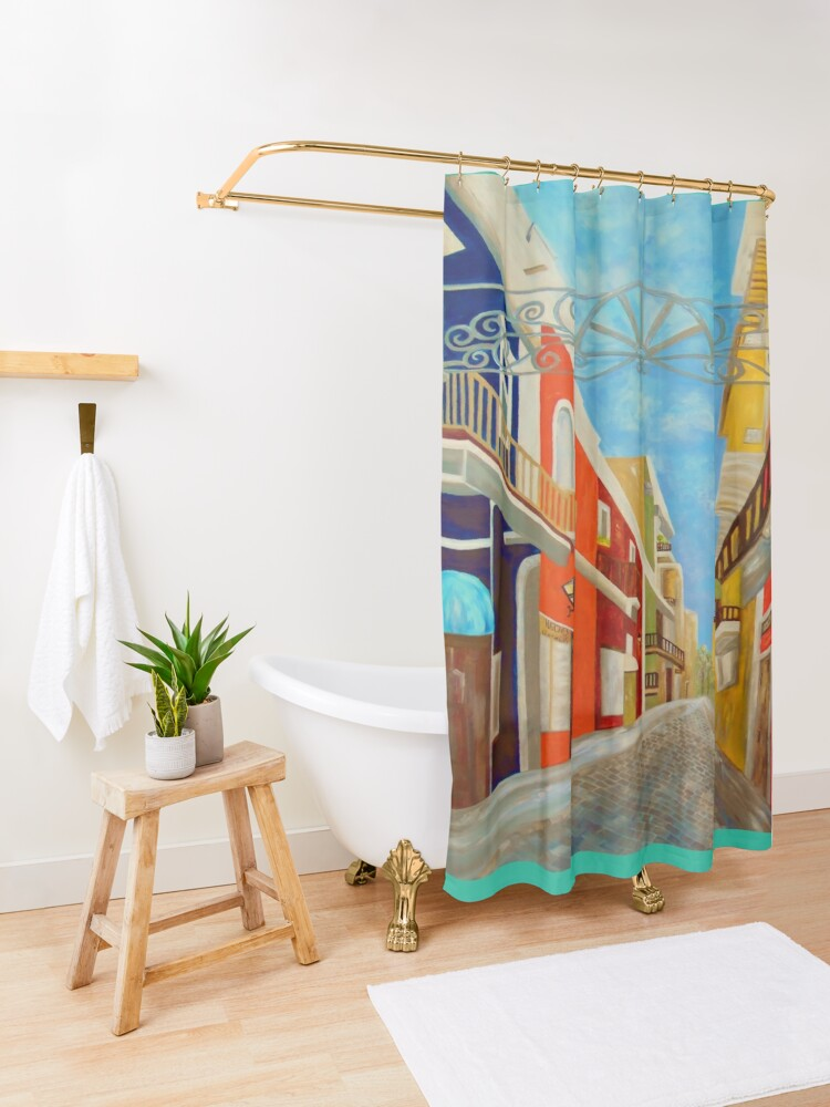 Alternate view of Old San Juan Shower Curtain