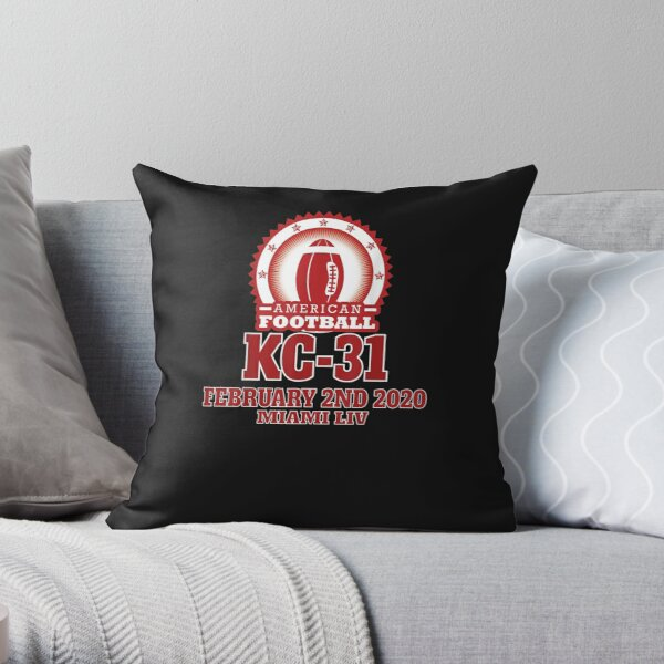 American Football KC-31 February 2nd 2020 Miami LIV Throw Pillow