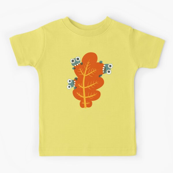 Cute Bugs Eating Autumn Leaves Kids T-Shirt