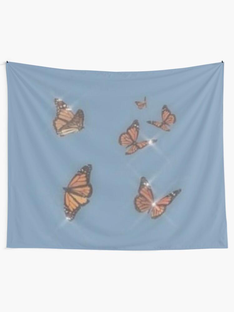 Alternate view of butterflies Tapestry