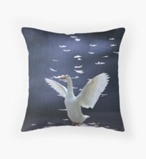 Shower me in Feathers  Throw Pillow
