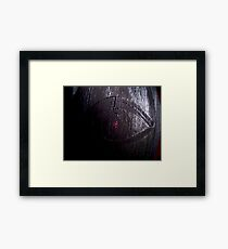'And From My Soul Comes The Darkness' ~ Pore Space Inkling No 4 Framed Print