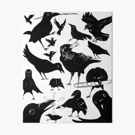 a murder of crows! Art Board Print