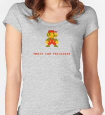 Mario for President Women's Fitted Scoop T-Shirt