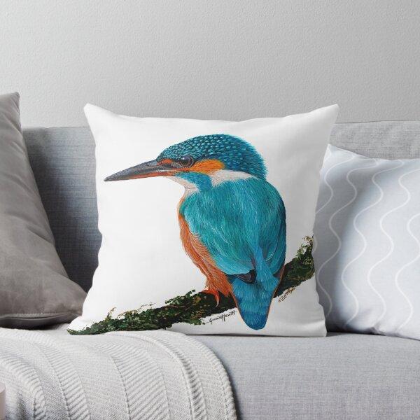 Sacred Kingfisher Throw Pillow