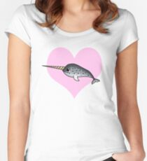 Love Narwhals Women's Fitted Scoop T-Shirt