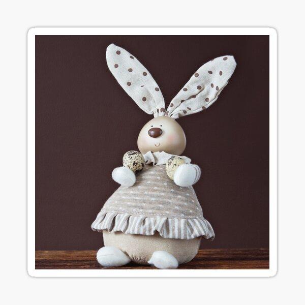 What a dear little cloth bunny Sticker