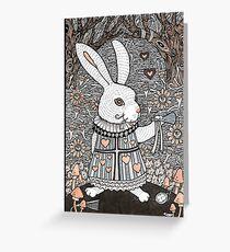 The White Rabbit Greeting Card